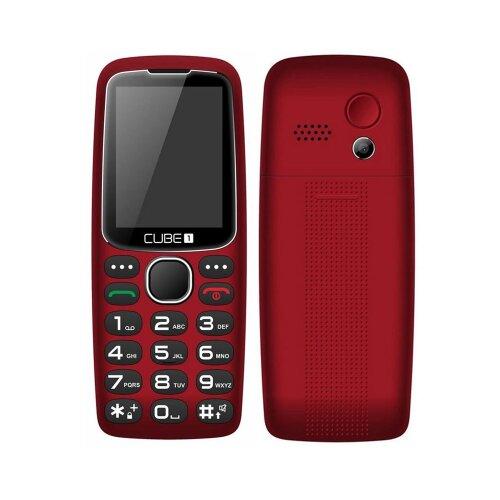 CUBE1 S300 Senior Dual SIM, Červený - porušené balenie