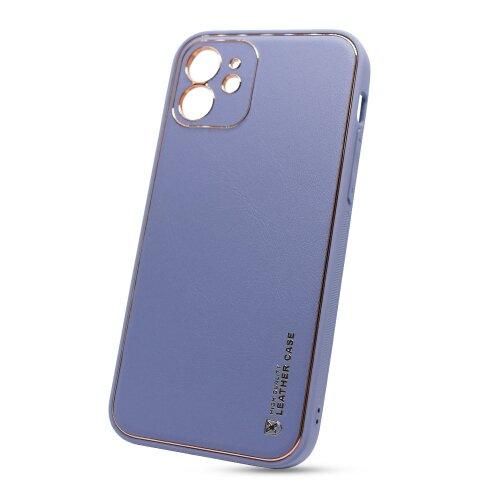 Puzdro Leather TPU iPhone 12 (6.1) - modré