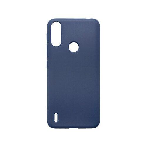 mobilNET silikónové puzdro Motorola E7 Power tmavo modré