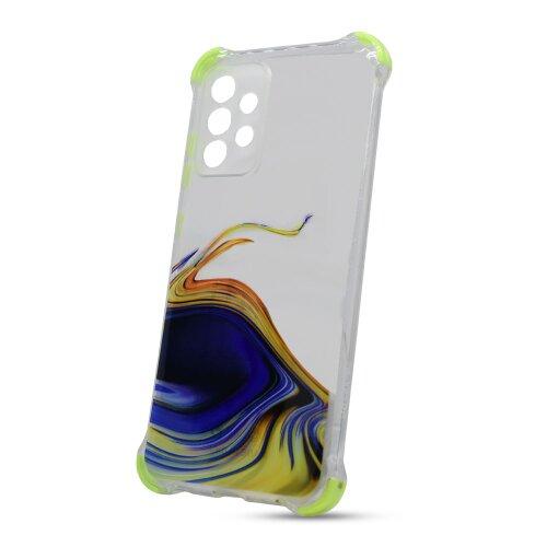 Puzdro Water TPU Samsung Galaxy A52 A525 vzor 2 - žlté