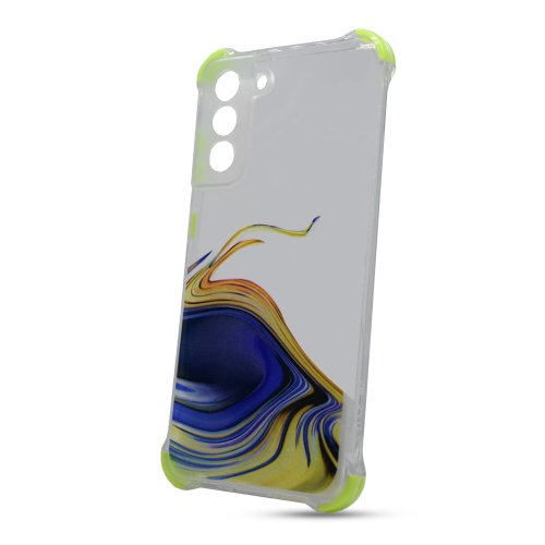 Puzdro Water TPU Samsung Galaxy S21 FE vzor 2 - žlté