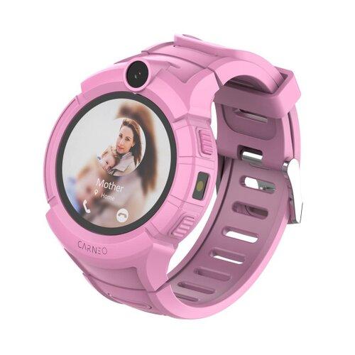 CARNEO Smart hodinky GuardKid+ Ružové - detske hodinky GPS