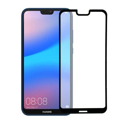 Ochranné sklo 5D Ceramic Huawei P20 Lite celotvárové - čierne